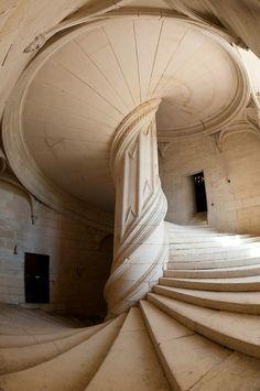 Da Vinci Staircase, La Rochefoucauld (France)