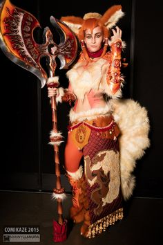 Comikaze cosplay championship 2nd place Master's level - Meisha Mock as Arcanine pokemon