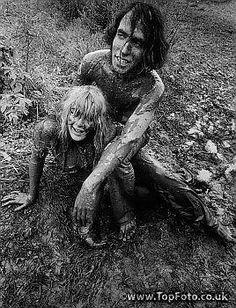 BETHEL, NY: Woodstock Festival 1969. Couple who fell in the mud  ©Fredricks/ The Image Works