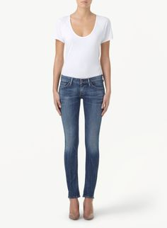 CITIZENS OF HUMANITY RACER-SLASH - A sexy pair of low-slung skinnies. Shop Artizia Scarborough Town Centre. #jeans #denim #shopSTC
