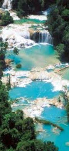 Agua Azul waterfalls in Tumbalá, Chiapas, Mexico • photo: Secretaria de Turismo de Chiapas