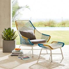 Huron Outdoor Large Lounge Chair Cushion West Elm