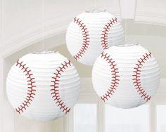 Baseball Lanterns (3) #BirthdayExpress