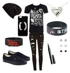 """My chemical romance inspired"" by kamryn-denney on Polyvore featuring River Island, Vans, Marc Jacobs, Free People and ASOS"