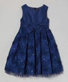 a look at this Little Miss Navy Julia A-Line Dress - Toddler & Girls on zulily today!Take a look at this Little Miss Navy Julia A-Line Dress - Toddler & Girls on zulily today! Toddler Girl Dresses, Toddler Outfits, Kids Outfits, Toddler Girls, Little Girl Dresses, Girls Dresses, Flower Girl Dresses, Dress Anak, Kids Frocks