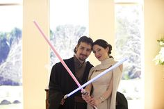 Star Wars Wedding - check the details!  Make plans, we're so doing this for our10th anniversary, people.  ^_^