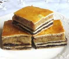 This Ukrainian Christmas cake recipe is served year-round. It is filled with various fillings like poppy seed, apricot, walnut, or just cinnamon-sugar. Ukrainian Desserts, Ukrainian Recipes, Russian Recipes, Ukrainian Food, Whole Food Recipes, Cake Recipes, Dessert Recipes, Ukrainian Christmas, Eastern European Recipes
