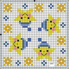 Baby star cross stitch.