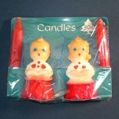 Vintage Gurley Choir Boy and Girl Candles