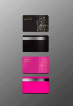CLUBMIDI Black Gold / Pink Gold membership card on Behance
