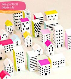 #Printable paper #houses