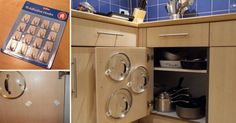 I love these kitchen cabinet door storage ideas with lots of DIY options! They're great for organizing your kitchen and so easy to do. Kitchen Storage Solutions, Diy Kitchen Storage, Kitchen Organization, Kitchen Decor, Kitchen Ideas, Organized Kitchen, Kitchen Hacks, Cabinet Door Storage, Kitchen Cabinet Doors