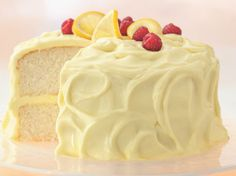 With tart lemon curd, this white cake is great when you need a light, refreshing dessert.