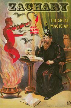 Fra Diavalo by peterpulp on DeviantArt Vintage Advertisements, Vintage Ads, Magician Art, Art Magique, Vintage Circus Posters, Magic Illusions, Street Magic, Esoteric Art, Bd Comics