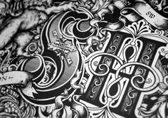 This great collection of detailed typography is by designer and illustrator Greg Coulton. After 12 years of working as a graphic designer he decided it was time to follow his dream of being