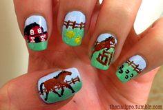 horse nails! #horse #nails #nailart  @Hailey Phillips Porter