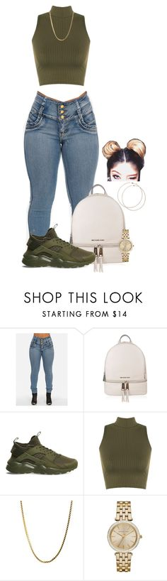 """Untitled #2104"" by basnightshine1015 ❤ liked on Polyvore featuring MICHAEL Michael Kors, NIKE, WearAll, Michael Kors and Wet Seal"