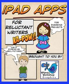 Encourage your reluctant writers with this technology. Great app to help you out, plus a FREEBIE!