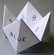 Paper fortune teller, although I always decorated mine!
