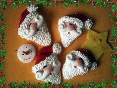 Cute! Santa Cookies for Christmas!!