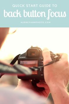 A quick guide on what back button focus is, why you might want to try it out, and how to set it up on your camera.