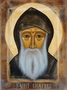 St Charbel, Anglican Church, Byzantine Icons, Orthodox Icons, Medieval Art, My Friend, Friends, Catholic, Saints
