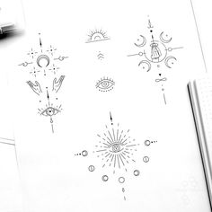 Tattoo artist fedor nozdrin on available designs eye eyetattoo geometrictattoodesign symbols geometricsymbols space tattoo spacetattoo dotwork linework Geometric Symbols, Geometric Tattoo Design, Tribal Henna Designs, Mandala Tattoo Back, Back Tattoo, Inkbox Tattoo, Pretty Tattoos, Cute Tattoos, Mini Tattoos