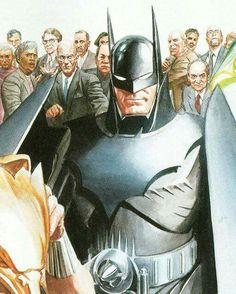 Batman Kingdom Come by Alex Ross Nightwing, Batgirl, Kingdom Come Batman, Geeks, Thomas Wayne, Dc Comics Heroes, Batman Art, Funny Batman, Batman Poster