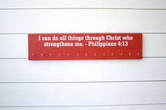 Medal Holder Christian Bible Verse Philippians by YorkSignShop