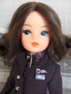 sixties Sindy doll in British airways outfit Sindy Doll, Doll Toys, Dolls Dolls, Vintage Barbie, Vintage Dolls, Tammy Doll, Fur Wrap, Valley Of The Dolls, British Airways