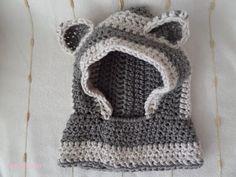 Lady with crochet: Dziecięcy komin z uszkami + opis wykonania