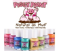 Piggy Paint! :) All Natural, Non-toxic nailpolish for baby...Eiya needs her piggies painted!!