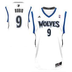 a176e8bfcf3 Ricky Rubio Minnesota Timberwolves adidas Youth Replica Home Jersey - White