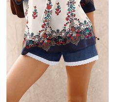 Džínové šortky s macramé lemem | blancheporte.cz #blancheporte #blancheporteCZ #blancheporte_cz #shorts #kratasy