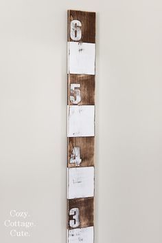 Growth chart DIY. So you don't have to mark up the wall and you can take it with you if you move!