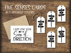 Five Senses Gift Tags & Card. Birthday Gifts For Best Friend, Best Friend Gifts, Best Gifts, Valentines Day Birthday, Valentine Gifts, Birthday Kids, 5 Gifts, Cute Gifts, Card Tags