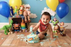 3 Year Old Birthday Party Boy, 2nd Birthday Pictures, 1st Birthday Photoshoot, 1st Birthday Cake Smash, Twin Birthday, Toy Story Birthday, Boy First Birthday, Birthday Ideas, Jesse Toy Story