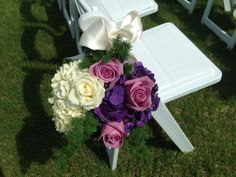 Purple and white wedding. www.hollidayflowers.com
