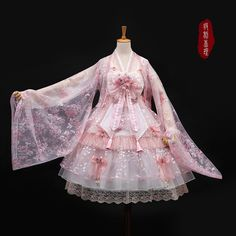 My-Lolita-Dress Official — Boli Cherry ~Sakura Blowing Dream Qi. Harajuku Fashion, Kawaii Fashion, Lolita Fashion, Cute Fashion, Rock Fashion, Emo Fashion, Pretty Outfits, Pretty Dresses, Beautiful Dresses