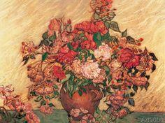 Vincent van Gogh - Vase des roses                              …