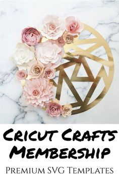 Easy Cricut paper flower SVG patterns for cardstock paper flowers, great for DIY home decor and other craft projects Flower Svg, Flower Template, Easy Projects, Craft Projects, How To Use Cricut, Diy Paper, Cricut Design, Paper Flowers, Diy Home Decor