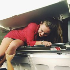 The attempted hijacking. Stewardess in trouble.