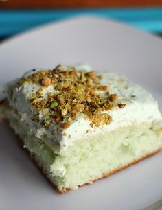 Wow. Skinny pistachio cake. Can't wait to make this!!