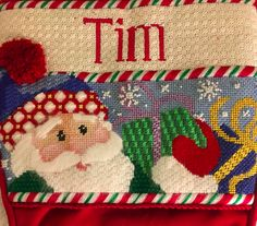 Now that the holidays are over, I can finally share the Needlepoint Christmas Gifts I gave in Stockings have always been on my list to stitch! Needlepoint Christmas Stockings, Babies First Christmas, Christmas Gifts, Holiday, Style Blog, Needlework, Santa, Stitch, Xmas Gifts