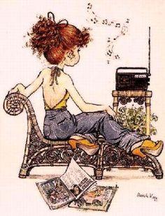 Radio y niña: