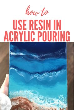 Today we're going to learn how to incorporate resin into our fluid pouring. This technique is very useful for creating…