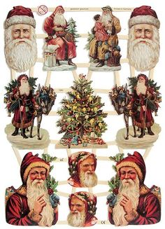 Victorian Santas for DIY projects from Germany from 32 Degrees North