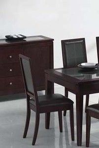 Set of 2 Dining Chairs Cappuccino Finish