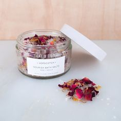 Hopscotch Nourish Bath Salts  Rose and Vanilla Bath Salts