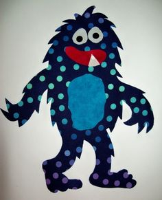 Fabric Applique TEMPLATE ONLY Hairy The Monster by etsykim on Etsy